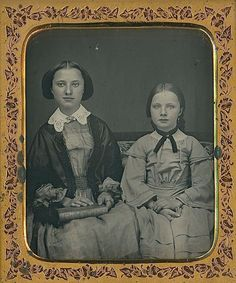 GORGEOUS YOUNG SISTERS BEAUTIFUL TEENAGERS ID'd 1/6 PLATE DAGUERREOTYPE D489