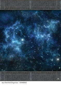 Azul Starfield Gaming Mat With Organizer Sides