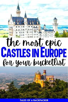 These incredible castles will blow your mind! I've brought together the ultimate list of the most beautiful fairytale castles in Europe which you can visit, or simply imagine yourself living there | Best Castles In Europe | Best Castles in Germany | Beautiful European Castles | Europe travel tips | best things to see in Europe | prettiest castles | fantasy castles that exist in real life | Travel Inspiration | Visit Europe | Things to do in Europe | Beautiful Places in Europe | Castle Aesthetic Fantasy Castle, Fairytale Castle, European Vacation, European Destination, Backpacking Europe, Europe Travel Tips, Europe On A Budget, Germany Castles, Places In Europe