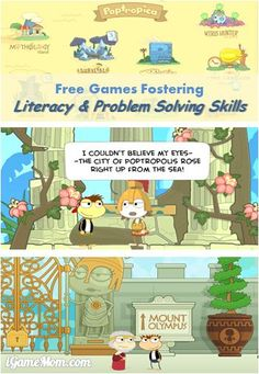 Free Game for Literacy and Problem Solving Skills - available online to play on computer, or app on iPhone iPad #kidsapps