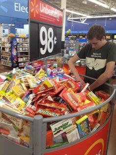 OCD Hero SAVES Halloween at Walmart...this is Before: