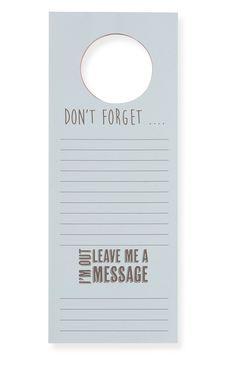 Door Hanger Memo Note Pad