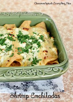 Shrimp & Corn Enchiladas
