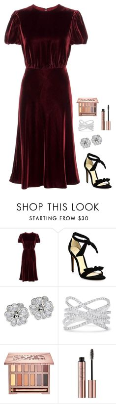 """Untitled #936"" by h1234l on Polyvore featuring Valentino, Alexandre Birman, Effy Jewelry and Urban Decay"
