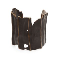 Driftwood Cuff by Julie Cohn. Bronze cuff with black finish. Recommend cleaning with dry, untreated jewelry cloth.