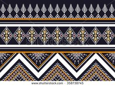 Geometric ethnic pattern seamless design for background or wallpaper.