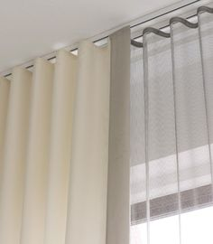 Gallery the Shade Store Ripple Fold Drapery Modern Curtain Track – Gaeli Modern Curtains Living, Modern Curtains, Curtains With Blinds, Drapes Curtains, Bedroom Curtains, Floor To Ceiling Curtains, Curtains On A Track, Diy Bedroom, S Wave Curtains