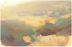 Nathan Fowkes Sage and amber grass with backlight in Central California. the use of color and values! Abstract Watercolor, Abstract Landscape, Landscape Paintings, Abstract Art, Landscapes, Nathan Fowkes, Pretty Pictures, Pretty Pics, Minimalist Landscape