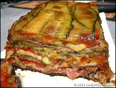 Terrine de courgettes, jambon cru, mozzarella - ajouter de fines tranches de PdT? Repas de Noël?