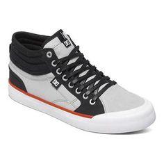 66b83f3388 Men s DC Shoes Evan Smith Hi Skate Shoe  Grey Sapatos Com Laço