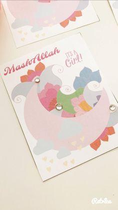 Islamic greeting cards online shop uk eid cards muslim greeting muslim baby shower cards muslim baby girl cards aqiqah muslim baby muslim m4hsunfo