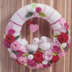 Haakpatroon Valentijn/bruiloft krans