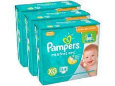 [Extra] Fralda pampers confort sec vários tamanho - XG por R$ 087 a tira e lenço umed. Johnson Baby, Nova, 30, Toy Chest, Storage Chest, Lunch Box, Personal Care, Kids, Baby Things