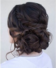 Sam... updo on dark brown hair as opposed to highlighted