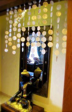 'Capiz Paper Shell Bead Curtain'