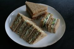 proper English Egg salad  tea sandwiches(From Scratch <3)