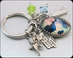Hey, I found this really awesome Etsy listing at https://www.etsy.com/listing/155793424/tinkerbell-key-chain-peter-pan-keychain