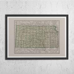 Kansas City Map - Kansas City Poster - Kansas City Print - KC Map ...