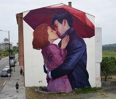 te extraño por nataliarak - Arte de la calle de Natalia Rak <3 <3