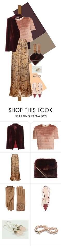 """""""SOFT SUBTLE EVENING"""" by yesitsme123 ❤ liked on Polyvore featuring Altuzarra, Raey, The Bee's Sneeze, Burberry, Kate Spade and PINK ANGEL"""