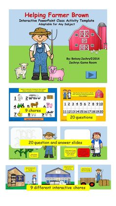 Powerpoint game template lucky draw interactive game teacher pay helping farmer brown interactive powerpoint class activity template toneelgroepblik Image collections