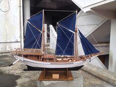 Indonesia pinisi ship model Sail Away, Model Ships, Sailboat, Sailing Ships, Wooden Toys, Pirates, Garden, Kitchen, Beautiful