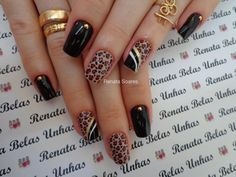To complete the fashion of French nails, a true classic of the manicure, now it is the turn of the S Simple Nail Designs, Nail Art Designs, Cute Nails, My Nails, Leopard Nails, Fabulous Nails, Nail Arts, Swag Nails, Christmas Nails