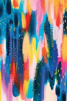 Abstract Watercolor, Colorful Abstract Art, Colorful Artwork, Gifts For An Artist, Pattern Wallpaper, Canvas Artwork, Painting Inspiration, Collage Art, Creative Art