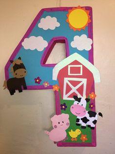 Farm pinata. Barn pinata. Number Farm pinata. Farm animals birthday Party. Barn birthday Party. Animals Farm birthday Party. Farm piñatas   Happy Party