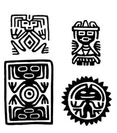 Aztec Symbols, Mayan Symbols, Viking Symbols, Egyptian Symbols, Viking Runes, Ancient Symbols, Ancient Art, American Indian Tattoos, Wiccan Tattoos