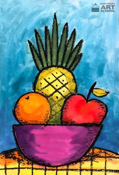 NEW Lesson: Simple Still Life - Online art lesson By Easy Peasy Art School.