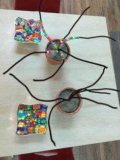 Thread pearls on pipe cleaner You are in the right place about Montessori Activities list Here we of Motor Skills Activities, Montessori Activities, Fine Motor Skills, Learning Activities, Preschool Activities, Dementia Activities, Physical Activities, Physical Education, Preschool Classroom