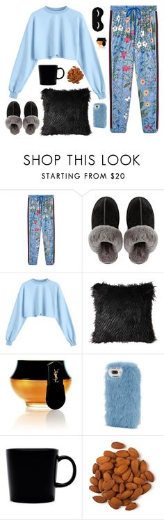 """""""good night"""" by anotherfashionaddict ❤ liked on Polyvore featuring Gucci, UGG, Yves Saint Laurent, Wild & Woolly, iittala, StreetStyle, Fall, cute, casualoutfit and fall2017"""