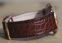 Bracelet Alligator chocolat petites écailles pour un Chanor