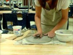 Clay Drape Slab Bowl - 10 mins