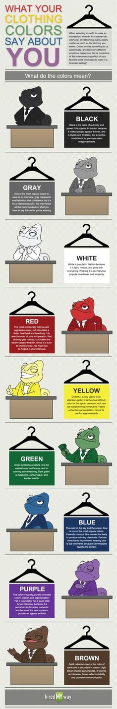 Dress accordingly for an interview…. Colors make a...