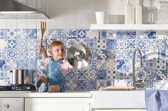 Patroontegels In Keuken : Zo richt je een gesloten transparante keuken in interieur