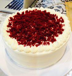 Red Velvet Cake – Jeannietay's Blog Kid Desserts, Fancy Desserts, Red Velvet Cake Ingredients, Red Velvet Cake Frosting, Vanilla Sponge Cake, Cake Blog, Chiffon Cake, Pastry Cake, Cacao