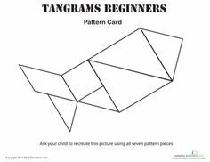 Help your child's imagination grow with these Tangram picture cards! Tangram is a classic Chinese puzzle which challenges children to use simple geometric shapes to create things they see in everyday life. Patterning Kindergarten, Shapes Worksheets, Preschool Worksheets, Math Activities, All About Me Preschool, Tangram Puzzles, Build Math, Math Night, Basic Geometry