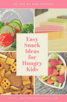 Here& a list of easy mom and kid approved snack ideas to help get Healthy Snacks For Kids, Easy Snacks, Toddler Meals, Kids Meals, Toddler Food, Baby Food Recipes, Whole Food Recipes, Friends Mom, Cooking With Kids