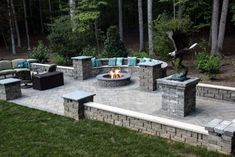Backyard Idea Inspiration Paver Patio Designs Excited backyard patio ideas with fire pit backyardpatio patio patiofurniture patiodesign backyard firepit pavers # Design Patio, Backyard Patio Designs, Backyard Landscaping, Patio Ideas, Pavers Ideas, Pergola Ideas, Pergola Plans, Landscaping Ideas, Paved Backyard Ideas