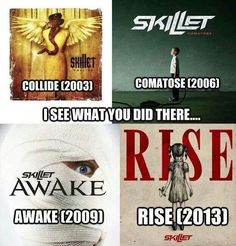 I never noticed this before! THAT'S SO COOL! Because you collide (had an accident or something), then you're in a coma (comatose), then you awake, and then you rise! CRAZY!