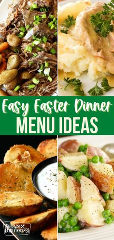 Here is a sample menu plan for a delicious and easy Easter Dinner. It features Slow Cooker Ham, Cheesy Potato Casserole, Sautéed Sweet Asparagus, and a Four Layer Banana Pudding for dessert. See the Recipe Notes for timing it all out perfectly. #easter #easterdinner #slowcookedham #potatocasserole #familydinner #dinnerrecipes