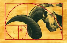 11 X 17 Sacred Totem Print Ram Skull Limited by UniversalRites. $30.00, via Etsy.