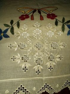 From The Sold Gallery ~ A Vintage Fabulous Hardanger Bedspread