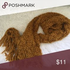 Custard color scarf ! Super cute warm scarf for fall !! H&M Accessories Scarves & Wraps