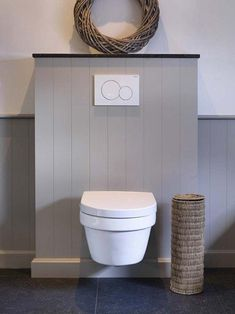 Beautiful toilet surround in cottage style. The natural stone top plate finishes the look. Modern Bathroom Sink, Bathroom Toilets, Modern Bathroom Design, Dream Bathrooms, Beautiful Bathrooms, Toilet Surround, Small Downstairs Toilet, Luxury Toilet, Wc Design
