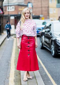 4 Outfits to Make You Love Your Leather Skirt All Over Again via @WhoWhatWearUK