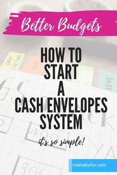 How to start a Cash Envelopes System - Budgeting Tips and Tricks Budgeting Process, Budgeting System, Budgeting Finances, Budgeting Tips, Envelope Budget System, Cash Envelope System, Dave Ramsey Envelope System, Budget Envelopes, Cash Envelopes