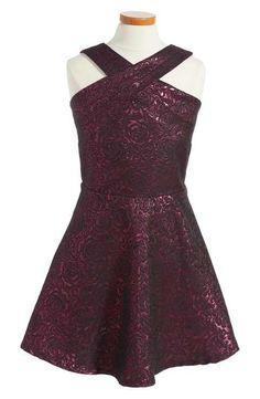 Penelope Tree Metallic Floral Party Dress (Big Girls)